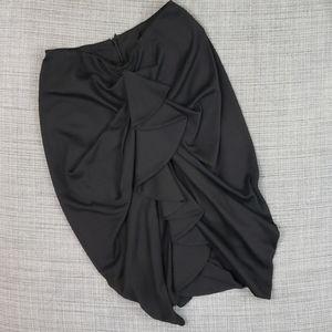 Eva Franco ruffled pencil skirt black size 2